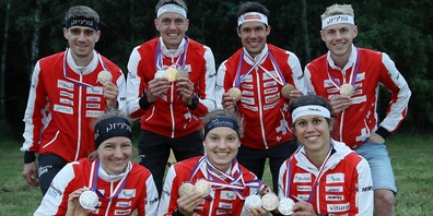 Martin Hubmann (2. von oben rechts) kehrt mit zwei von insgesamt sieben Schweizer Medaillen zurück.
