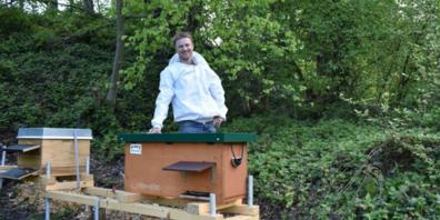 Daniel Gmeiner aus Rebstein war schon als Bub fasziniert von Bienen. Jetzt ist er Imker und hält eigene Bienenvölker.