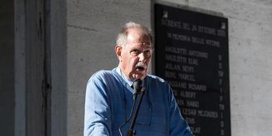 Der ehemalige Gemeindepräsident Mauro Chinotti an der Gedenkverannstaltung am Sonntag.