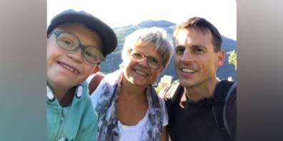 Maya und Roger Gehring mit Sohn.