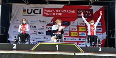 Handbikerin Sandra Stöckli aus Rapperswil-Jona holte sich bei den Rennen in Belgien eine Bronze- und eine Silbermedaille.