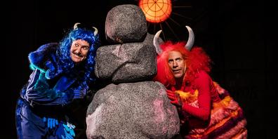 Das blaue und das rote Monster: Matthias Albold und Oliver Losehand.